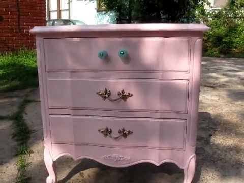 Refinishing Bellau0027s French Provincial Furniture   Shabby Chic Part 1