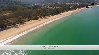 Пляж Камала, Пхукет, Таиланд / Kamala Beach, Phuket, Thailand: обзор с дрона