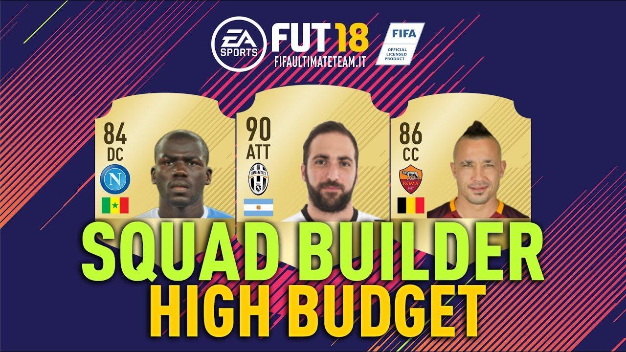 Squad Builder Fifa 18