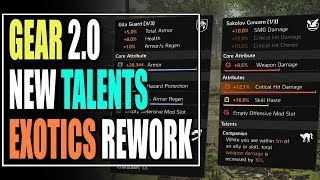 The Division 2 BIG NEWS! NEW TALENTS COMING, ALL EXOTIC REWORKED AND MORE!
