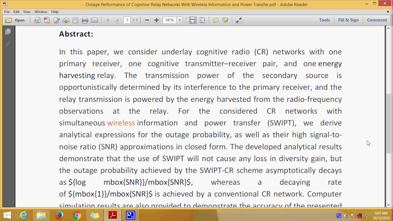 Outage Performance Of Cognitive Relay Networks With Wireless Power Information And Transfer
