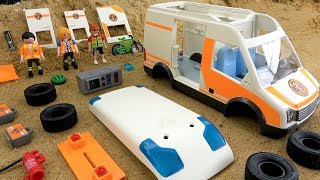 Assembling PLAYMOBIL Ambulance with Light and Sound Rescue Car Toy for Kids