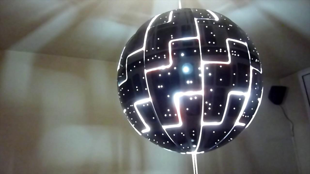star lamp youtube lampara star wars ikea - Star Wars Todesstern Lampe