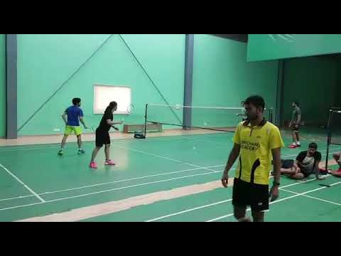 PV Sindhu and Saina Nehwal playing Badminton with Pullela Gopichand