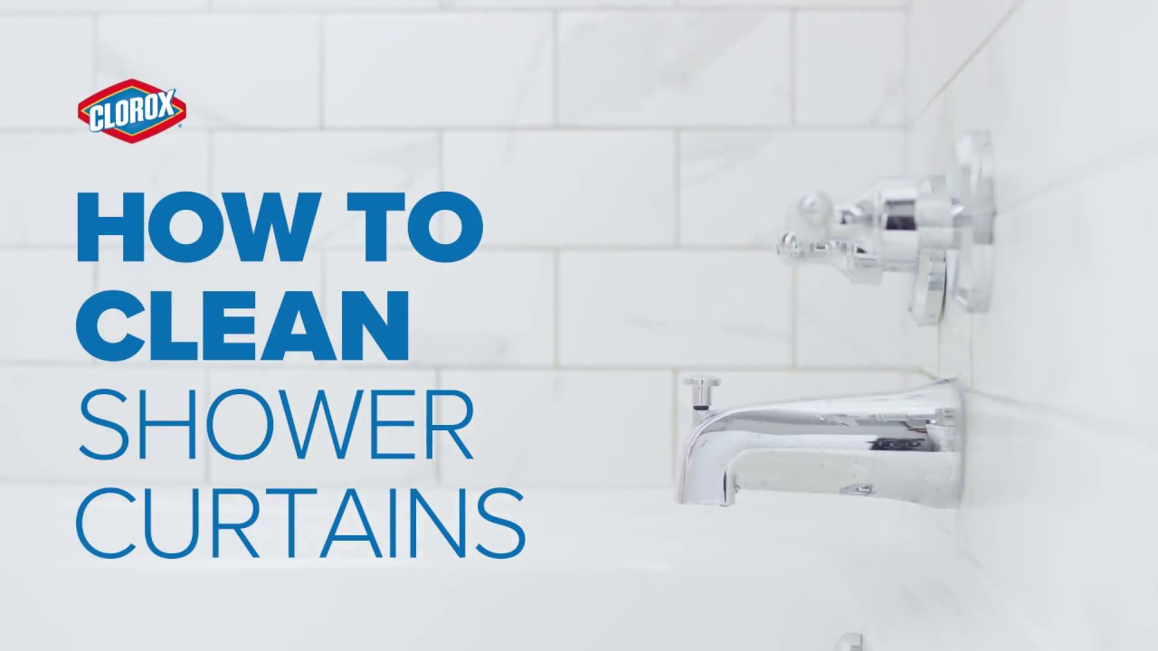 clorox how to clean shower curtains