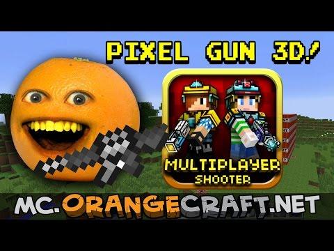 Annoying Orange Let's Play Pixel Gun 3D! (Minecraft Monday)