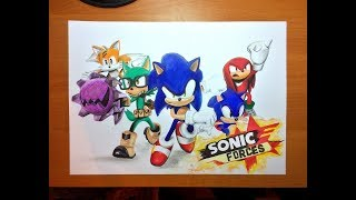 Speed Drawing Sonic Forces