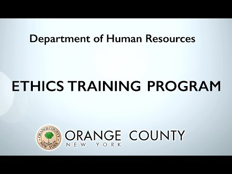 Orange County Employee Ethics 2017