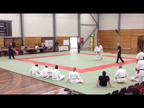 Masters men's individual randori 2016 Gold Coast: final Peter and Kevin