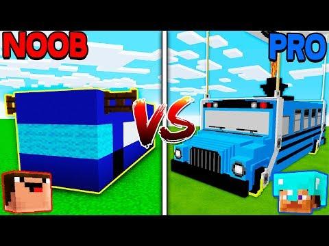 Minecraft NOOB vs. PRO: SCHOOL BUS in Minecraft!