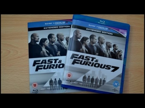 fast furious 7 uk blu ray unboxing youtube. Black Bedroom Furniture Sets. Home Design Ideas