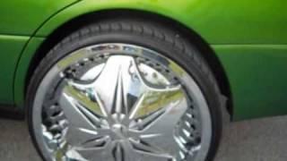 "Candy Green Lexus on 22"" Dub Voodoo Sploaters"