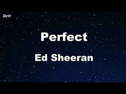 Perfect - Ed Sheeran Karaoke 【No Guide Melody】 Instrumental