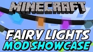 1.8 MODS - SPARKLY CHRISTMAS MOD! |  FAIRY LIGHTS MOD (Minecraft 1.8 Mod Showcase)