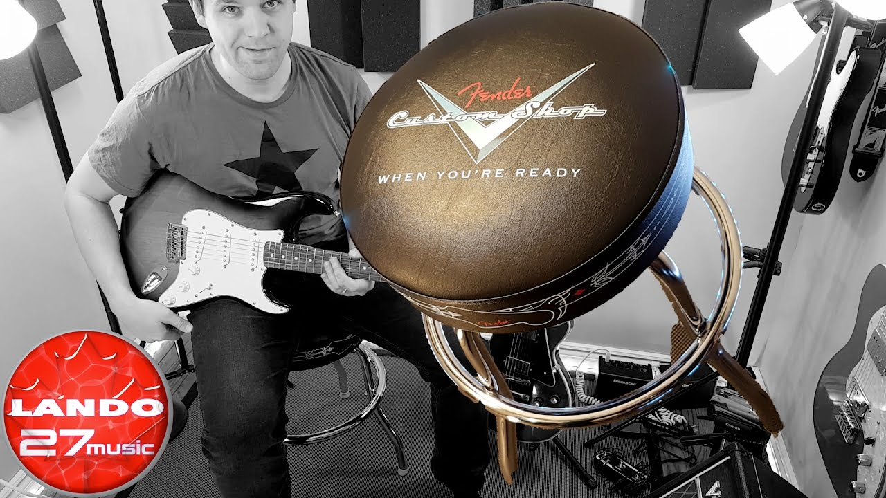 Fender custom shop bar stool sit on it and rotate! youtube