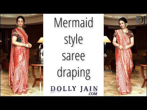 How To Drape Mermaid Style Saree | Best Drape | Dolly Jain|