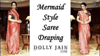 How to drape mermaid style saree | Best drape for Karwa Chauth | Dolly Jain|