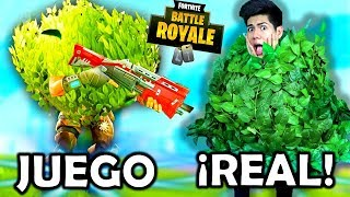 Je suis Bush de Fortnite dans REAL LIFE! - [ANTRAX] ☣