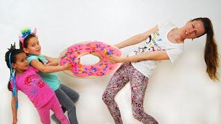 PIPONA. Лера и Вика, Pretend Play with Donuts