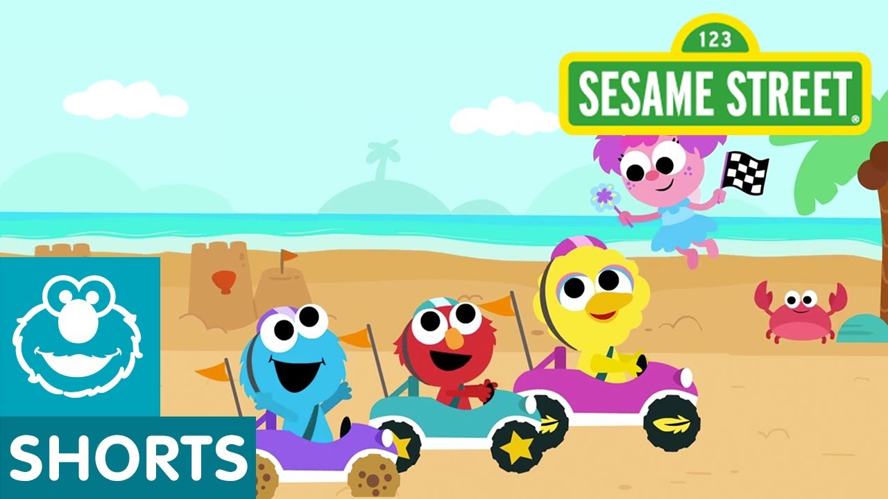 Sesame Street: Beach Track | Magical Car Races #6