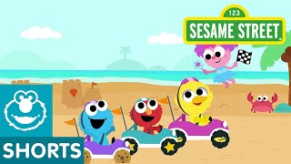 Sesame Street: Beach Track | Magical Car Races #6