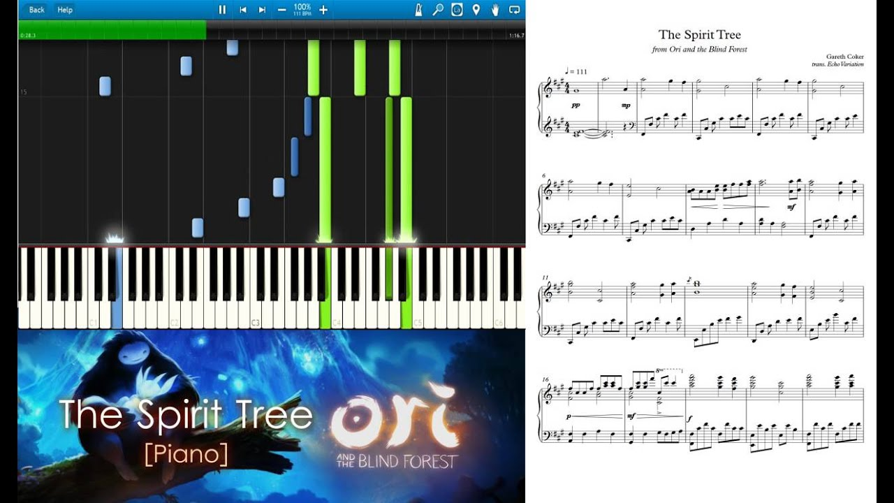 Ori And The Blind Forest The Spirit Tree Piano