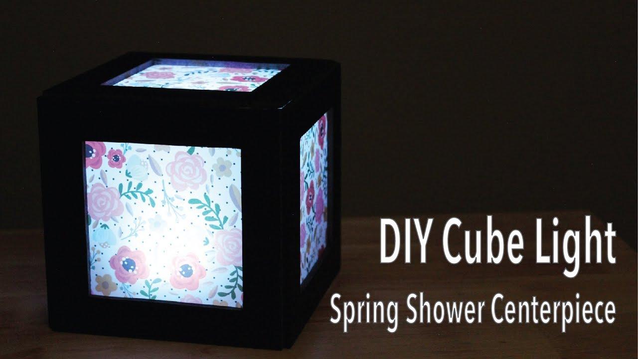 Diy Cube Light Centerpiece Spring Baby Shower Bridal Shower