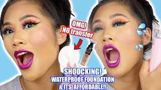 OMG! MOST WATERPROOF FOUNDATION FROM NYX COSMETICS! ONE BRAND REVIEW || Skincare prep || Ling.KT