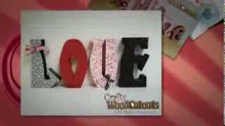 February & Valentines Day Wood Crafts - Love, Kiss, Conversation Hearts