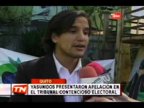 Yasunidos presentaron apelación en el tribunal contencioso electoral
