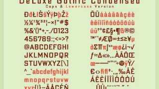 DeLuxe Gothic Font Download