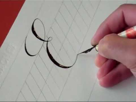 Brush lettering lowercase e youtube