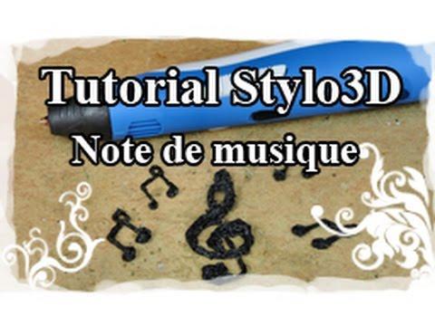 DIY : 3D pen / Stylo 3D Tutoriel N°3 : Bijoux Note de musique