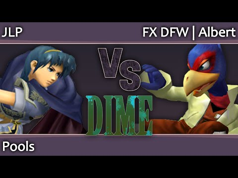DIME 15 Melee - JLP (Marth) vs FX DFW Albert (Falco) - Pools
