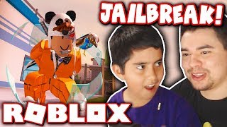 MY LITTLE BROTHER PLAYS ROBLOX JAILBREAK FOR THE FIRST TIME!!