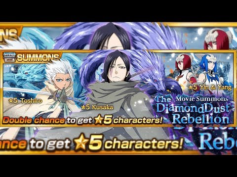 "Bleach Brave Souls: Summons do Filme ""Diamond Dust Rebellion"" - Omega Play"