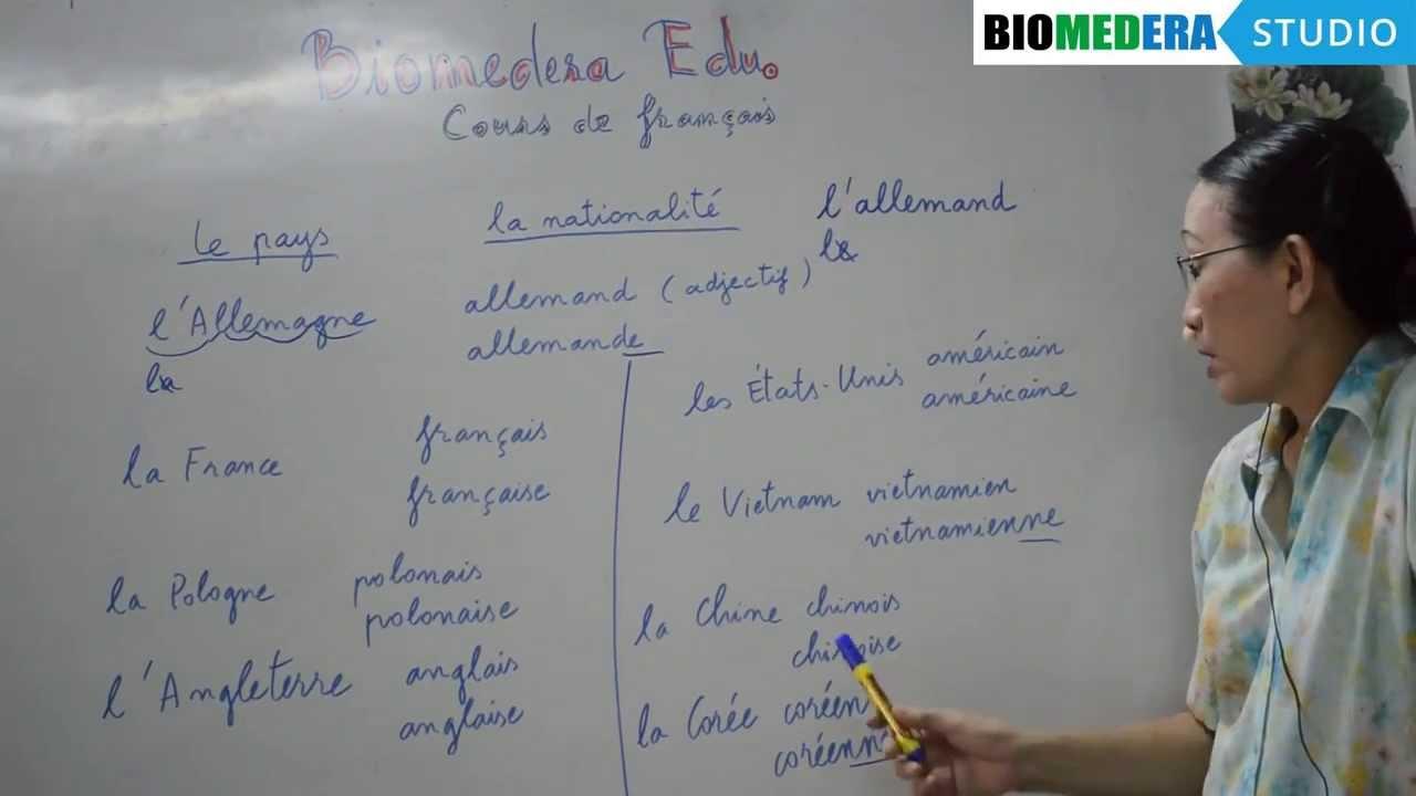 Bài 8: Một số tên quốc gia trong tiếng Pháp – Les pays