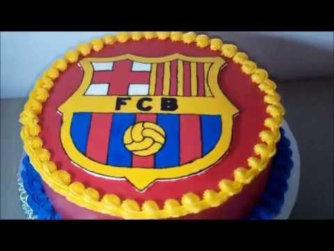 Barcelona Cake Decorating Birthday Cake Youtube