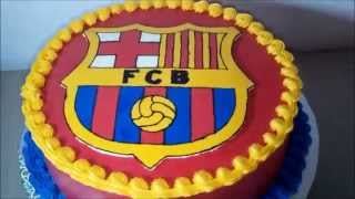 Barcelona cake decorating: - cover buttercream image logo transfer borders by all of related: h...
