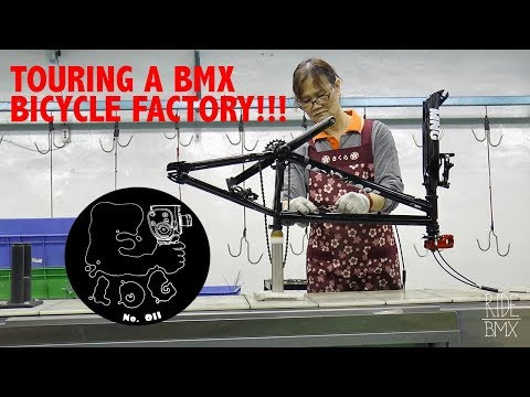TOURING A BMX BICYCLE FACTORY IN TAIWAN W/ GT!!    E-LOG 011