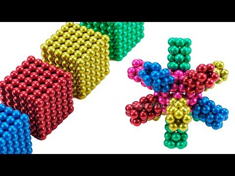 learn-colors-with-2000-mini-magnetic-balls-|-make-snowflake-with-magnets-|-fun-diy-for-kids