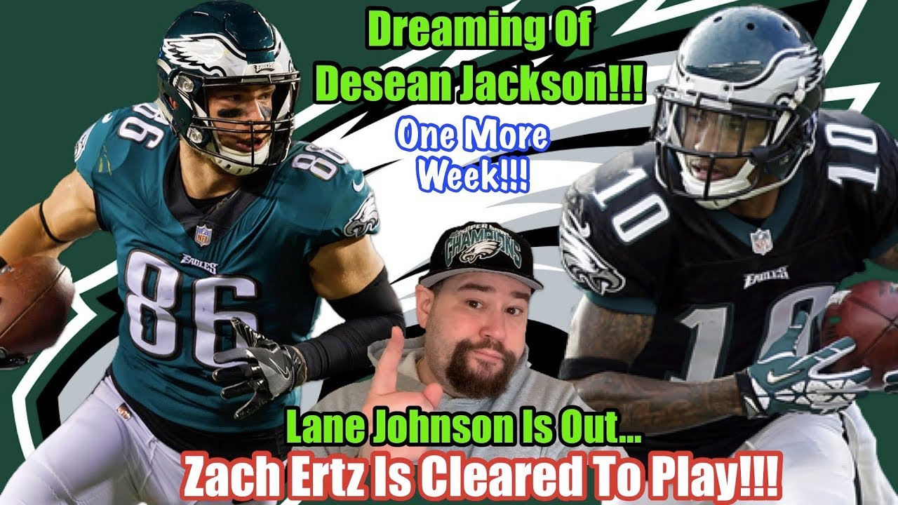 Zach Ertz cleared to play; Lane Johnson out vs. Seattle
