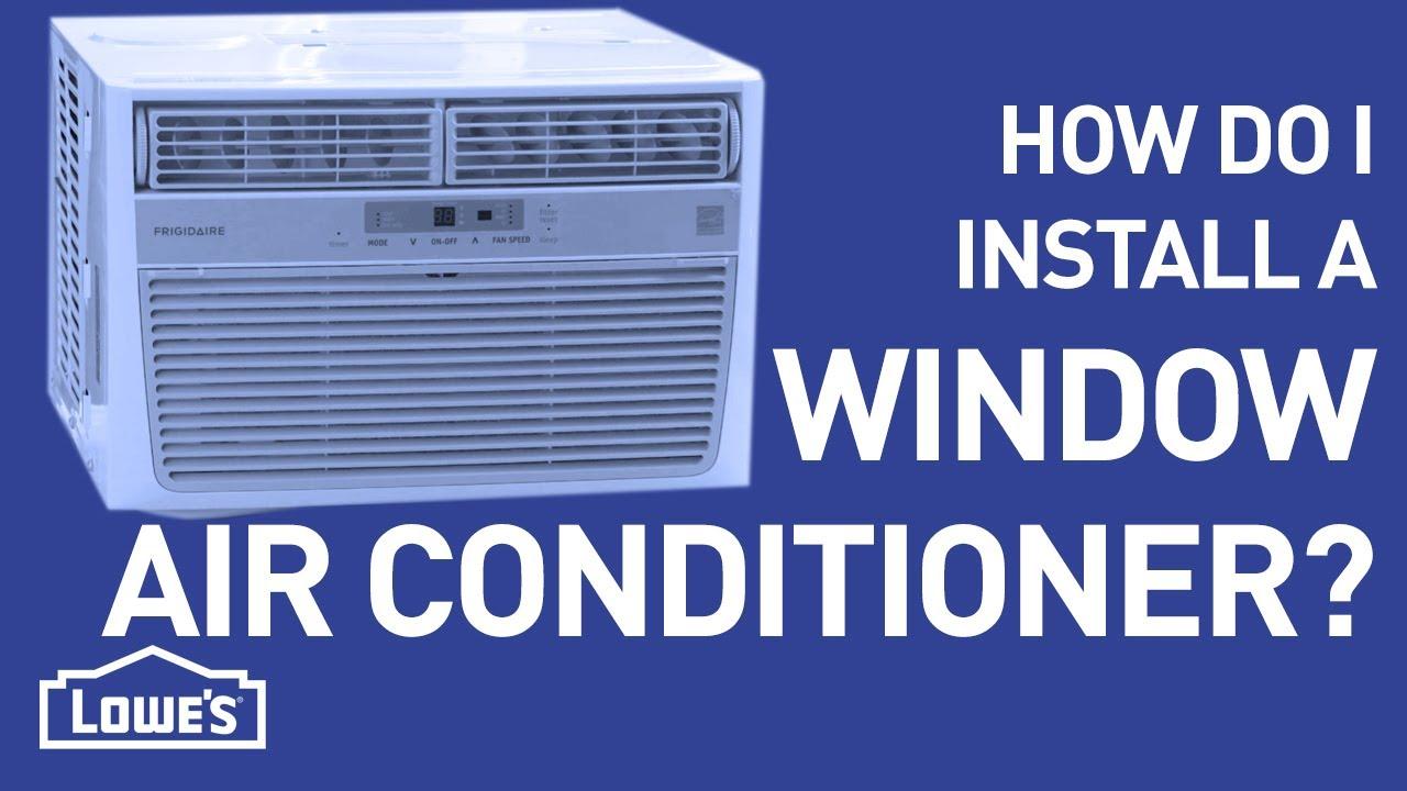 How Do I Install a Window A/C Unit? | DIY Basics - YouTube
