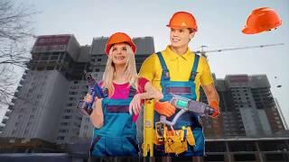 Красивое поздравление с днем строителя!