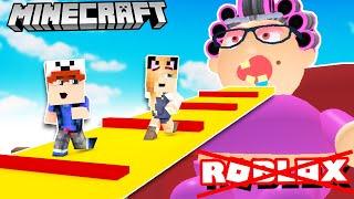 UCIEKAMY Z DOMU ZŁEJ BABCI W MINECRAFT! (Minecraft Obby) | Vito i Bella