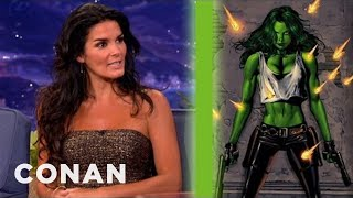 Angie Harmon Wants To Be A Lusty, Big-Busted She-Hulk - CONAN on TBS