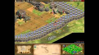 Age of Empires II - Online Commentary Battle - Chinese Palisade Rush
