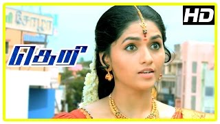 theri movie vijay comes to meet sunaina raadhika comedy scene swaminathan