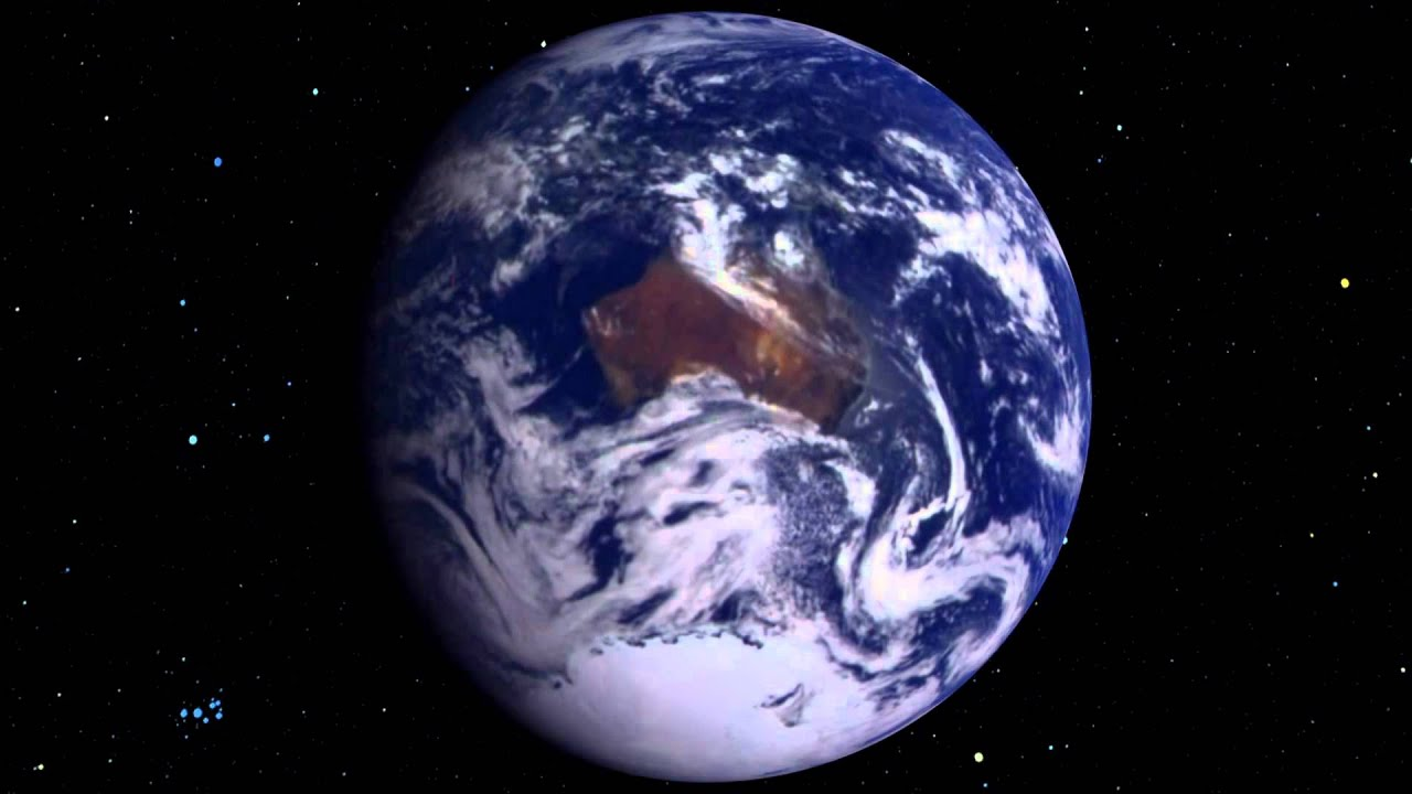 The Earth rotating from space? - YouTube