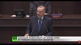 Erdogan sets deadline on Kurds to leave Syria